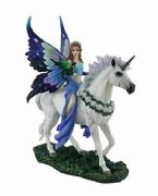 Anne Stokes Realm of Enchantment Blue Fairy Statue Figurine Sculpture Ornament